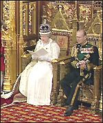 Queen reading the Speech