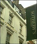 [ image: Sotheby's business has gone up by 15%]