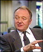 [ image: The two Kens in favour: Labour left-winger Livingstone . . .]