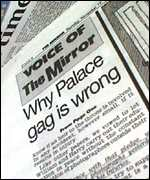 [ image: The Mirror accuses the prince of trying to censor the press]