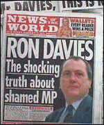 [ image: The tabloids went to town after Mr Davies's 'error of judgement']