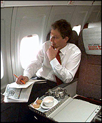 [ image: In future Blair will travel in greater comfort than this]