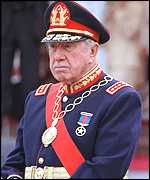 [ image: Pinochet: Faces long stay in the UK]