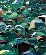 [ image: More than a million could be camping out without facilities]