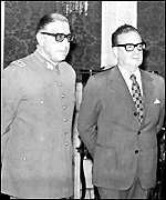 [ image: Pinochet (left) and Allende a month before the coup]