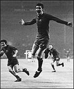 [ image: Kidd was on the scoresheet when United won the European Cup in 1968]