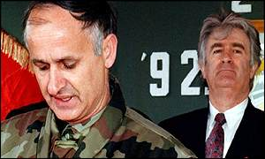 Radislav Krstic with his former commander, Radovan Karadzic