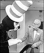 Dr Suess with the Cat in the Hat