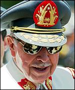 [ image: Generl Pinochet is waiting to hear his fate]