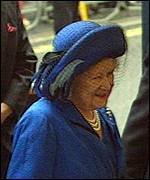 [ image: The Queen Mother arriving at the Theatre Royal]
