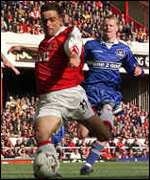 [ image: Everton could only watch Marc Overmars and Arsenal blow by]