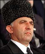 [ image: Aslan Maskhadov: Intends to launch a fight against banditry]