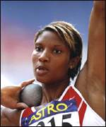 [ image: European and Commonwealth champion heptathlete Denise Lewis came second]
