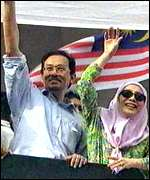[ image: Anwar and his wife have become the focus of Malaysia's reform movement]