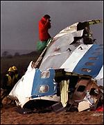 Lockerbie plane wreckage