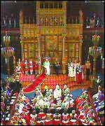 [ image: Ceremony during the queen's speech was shortened]