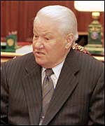 [ image: Boris Yeltsin: Political and diplomatic solution needed]