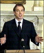 [ image: Blair: Trying to limit civilian casualties]