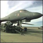 [ image: America's B-1 bomber was used for the first time in combat]