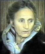 [ image: Mr Ceausescu's wife, Elena, awaiting execution]