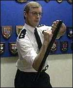 [ image: The PCA urged a rethink on police forces' baton use]