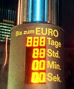 [ image: Countdown to E-day in Frankfurt's banking district]