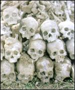 [ image: Around 1.7m people are believed to have died under the Khmer Rouge regime]