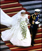 [ image: Princess Diana's dress: An immense train]
