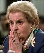 [ image: Madeleine Albright: Discouraged foreign trial]