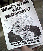 [ image: The leaflet that libelled the burger chain]