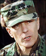 [ image: General Wesley Clark: Nato has sent him to have talks with the Yugoslav government]