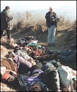 [ image: Observers described the Racak massacre as execution-style killings]