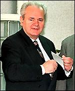 [ image: Mr Milosevic has temporarily lifted expulsion order]
