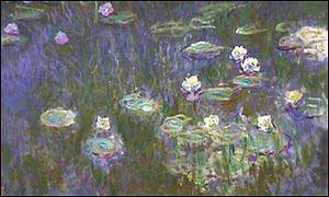 [ image: Waterlilies, Green Reflection, 1916-23]