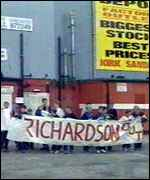 [ image: Fans organised a lengthy campaign against Richardson]