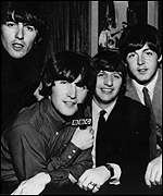 [ image: Ringo (center-right) joined the band after they played at the Casbah]