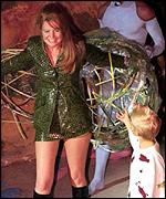 [ image: Patsy Palmer and her son Charlie take to the catwalk]