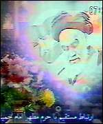 [ image: Pictures of Ayatollah Khomeni dominated the TV]