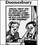 [ image: Internet trading hits the popular comic strips]