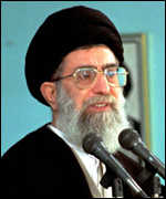 [ image: House arrest for those who challenge the authority of Ayatollah Khamenei]