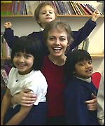 Ruth Miskin and pupils