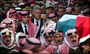 Image result for funeral of jordan's king hussein