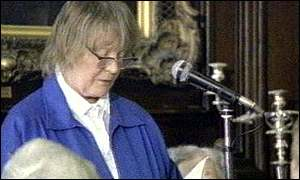 Iris Murdoch gives a reading
