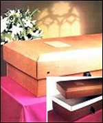 [ image: Carboard coffins can cost as little as �]