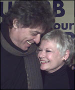 [ image: Tom Stoppard and Dame Judi Dench celebrate]