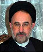 [ image: President Khatami: complained about broadcast]