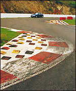 Bus Stop chicane at Spa