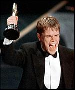 [ image: Matt Damon with his Good Will Hunting Oscar]