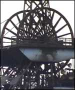 [ image: The pit wheel: A rare site in modern Britain]