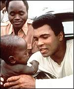 [ image: Ali has worked tirelessly to tackle Third World famine]